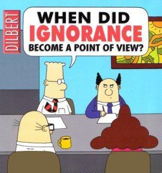 Od kiedy ignorancja jest punktem widzenia?